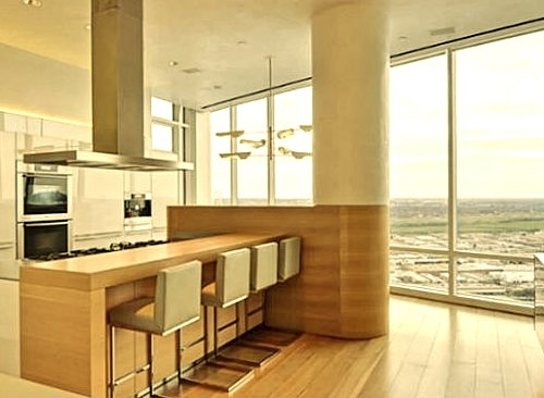 Luxury Penthouse Kitchen with a View