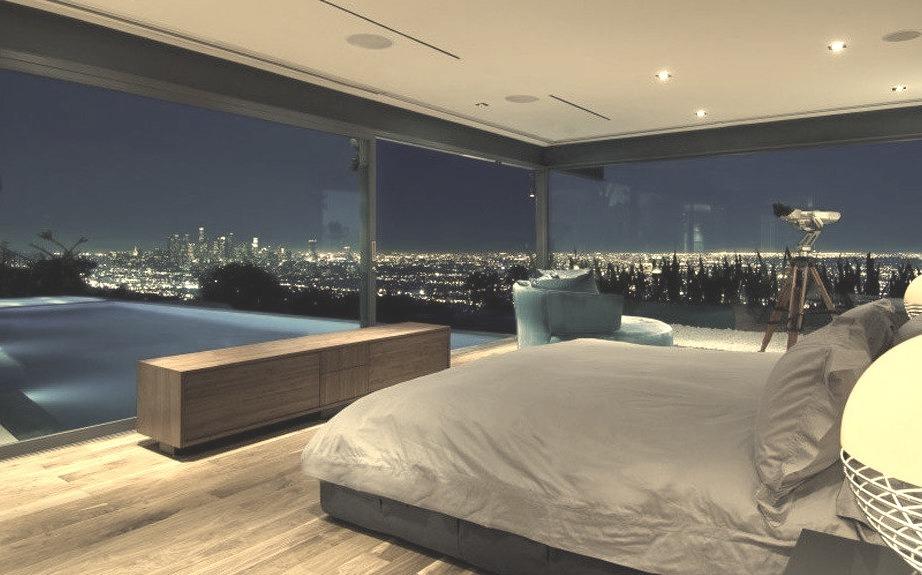 Luxury Glass Bedroom with Pool