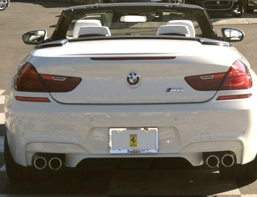 White BMW m6 Convertible