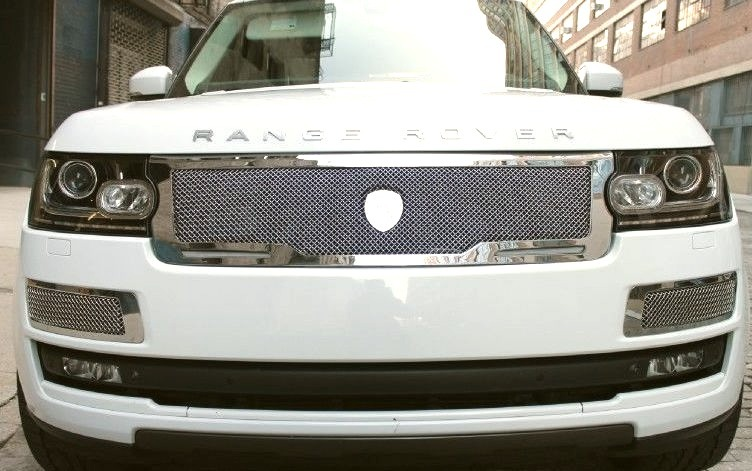 White Range Rover Grill