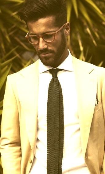 Mens Fashion Suit Model