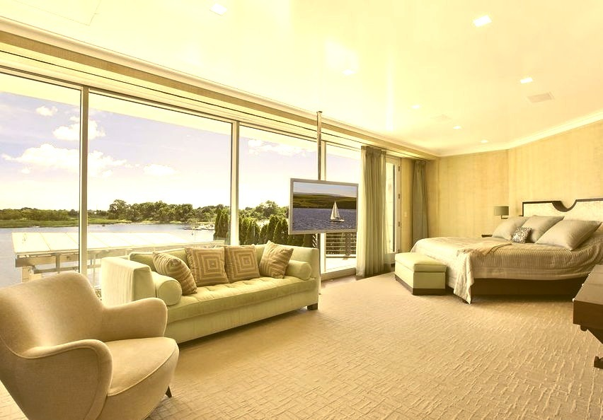 Luxury Living Room With Water View
