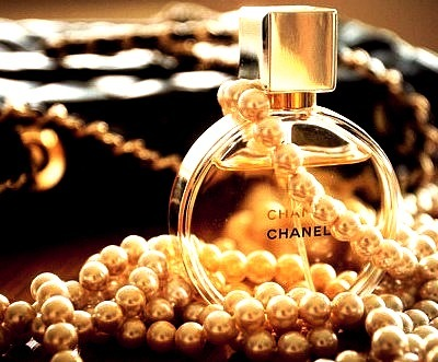 Chanel Perfume and Pearls